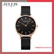 Đồng hồ nữ Julius JS027D kính Sapphire dây inox - Size 32