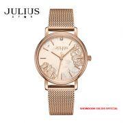Đồng hồ nữ Julius Star JS033A kính Sapphire dây inox - Size 32