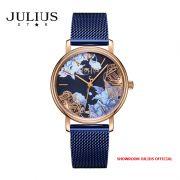Đồng hồ nữ Julius Star JS033B kính Sapphire dây inox - Size 32