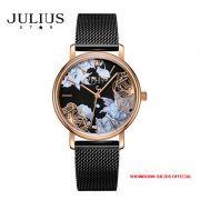Đồng hồ nữ Julius Star JS033C kính Sapphire dây inox - Size 32