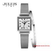 Đồng hồ nữ Julius Star JS031C kính Sapphire + Vòng Julius  - Size 20