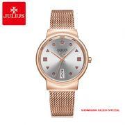Đồng hồ nữ Julius JA1187 dây thép vàng đồng - Size 33