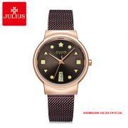 Đồng hồ nữ Julius JA1187 dây thép nâu - Size 33