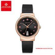 Đồng hồ nữ Julius JA1187 dây thép đen - Size 33