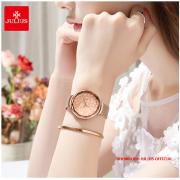 Đồng hồ nữ Julius JA1189A dây thép vàng đồng - Size 36