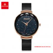 Đồng hồ nữ Julius JA1189D dây thép đen - Size 36