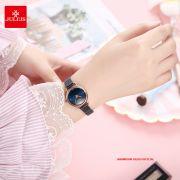 Đồng hồ nữ Julius JA1192C dây thép xanh - Size 26