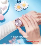 Đồng hồ nữ Julius JA1201D dây da tím - Size 36