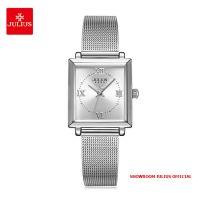 Đồng hồ nữ Julius JA1202A dây thép bạc - Size 24