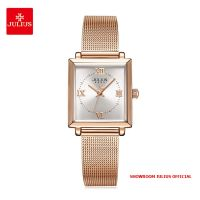 Đồng hồ nữ Julius JA1202B dây thép vàng đồng - Size 24
