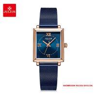 Đồng hồ nữ Julius JA1202C dây thép xanh - Size 24