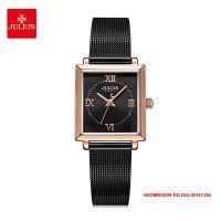 Đồng hồ nữ Julius JA1202D dây thép đen - Size 24