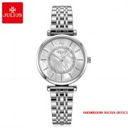 Đồng hồ nữ Julius JA1194A dây thép bạc
