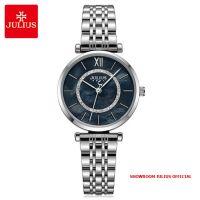 Đồng hồ nữ Julius JA1194A dây thép bạc mặt đen - Size 32