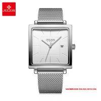 Đồng hồ nữ Julius JA1207A dây thép bạc - Size 35