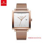 Đồng hồ nữ Julius JA1207B dây thép vàng đồng