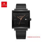 Đồng hồ nữ Julius JA1207C dây thép đen - Size 35