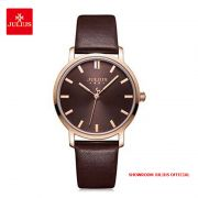 Đồng hồ nữ Julius JA1200LC dây da nâu - Size 32