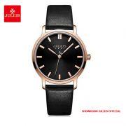 Đồng hồ nữ Julius JA1200LD dây da đen - Size 32