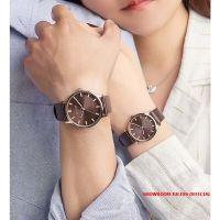 Đồng hồ cặp Julius JA1200C dây da da nâu