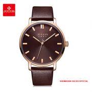 Đồng hồ nam Julius JA1200MC dây da nâu