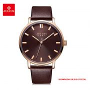 Đồng hồ nam Julius JA1200MC dây da nâu - Size 39