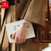 Đồng hồ nữ Julius JA1197B dây da xám - Size 30