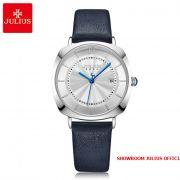 Đồng hồ nữ Julius JA1190LA dây da xanh - Size 32