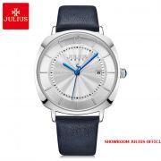 Đồng hồ nam Julius JA1190MA dây da xanh