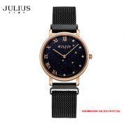Đồng hồ nữ Julius Star JS037C kính Sapphire khóa nam châm - Size 28
