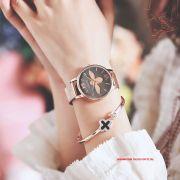 Đồng hồ nữ Julius Star JS042 dây thép vàng đồng mặt xám