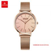 Đồng hồ nữ Julius JA1198 dây thép vàng đồng - Size 32