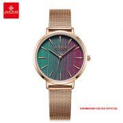 Đồng hồ nữ Julius JA1198B dây thép vàng đồng mặt nhiều màu - Size 32