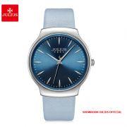 Đồng hồ nữ Julius JA1201A dây da xanh - Size 38