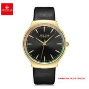 Đồng hồ nữ Julius JA1201 dây da đen - Size 38