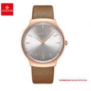 Đồng hồ nữ Julius JA1201 dây da nâu - Size 38