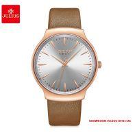 Đồng hồ nữ Julius JA1201 dây da nâu