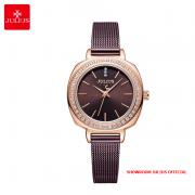 Đồng hồ nữ Julius JA1213A dây thép nâu - Size 30