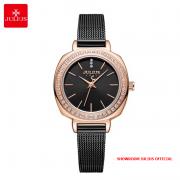Đồng hồ nữ Julius JA1213 dây thép đen - Size 30