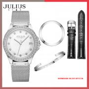 Đồng hồ nữ Julius Star JS040A dây thép kính sapphire