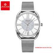 Đồng hồ nữ Julius JA1184 dây thép bạc