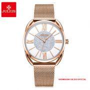 Đồng hồ nữ Julius JA1184 dây thép vàng đồng - Size 32