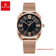 Đồng hồ nữ Julius JA1184 dây thép vàng đồng mặt đe