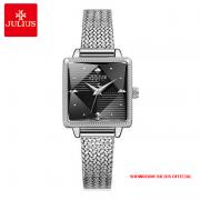 Đồng hồ nữ Julius JA1220 dây thép trắng bạc - Size 24