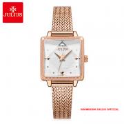 Đồng hồ nữ Julius JA1220 dây thép vàng đồng - Size 24