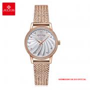 Đồng hồ nữ Julius JA1219 dây thép vàng đồng - Size 29