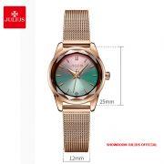 Đồng hồ nữ Julius JA999 dây thép - Size 25