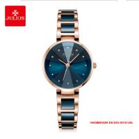 Đồng hồ nữ Julius JA1209 dây thép xanh