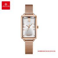 Đồng hồ nữ Julius JA1215 dây thép vàng đồng - Size 20