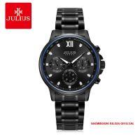 Đồng hồ nam Julius JAH113 dây thép đen 6 kim - Size 40